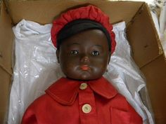 Antique Black Baby Boy  Doll Marked by Hermann Steiner. Germany