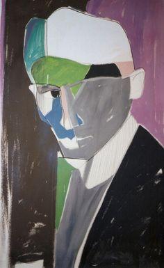 Ritratto di Franz Kafka. Portrait of Franz Kafka.1994. Gabriele Donelli