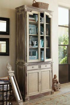Madeline Bookshelf & Cabinet - Eighteenth Century Cabinet, Antique Look Bookshelf, Bookcases & Cabinets | Soft Surroundings