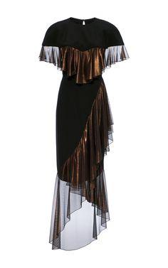 Flounce Short Sleeve Dress by CHRISTIAN SIRIANO for Preorder on Moda Operandi
