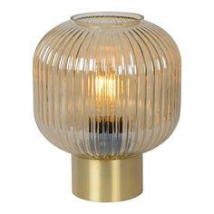 Lucide Maloto Tafellamp Lampe Retro, Or Mat, Fluorescent Lamp, Ambre, Direct Lighting, Emergency Lighting, Style Retro, Luminous Intensity, Colors