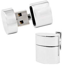 Oval 4GB USB Flash Drive Cufflinks
