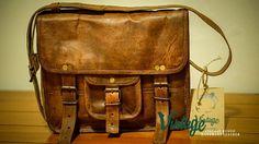 Vintage Handmade Rustic Goat Leather 15'' by VintageLeatherSpace