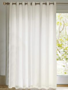 White Sheers With Grommets For Extra Wide Sliding Glass Door