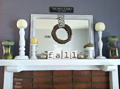 Chase the Star: Fall Mantel