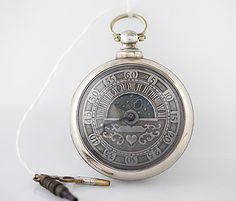 VERY RARE Circa 1865 Sun & Moon Dial, Verge Fusee Antique Silver Pocket Watch | eBay
