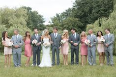 stylish bridal party in grey and pink / Christie Graham Photography