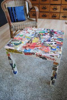 Plus de 1000 id es propos de avec du papier sur - Customiser une table de salon ...