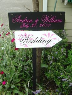 Custom Wood Wedding Signs  Personalized by OurHobbyToYourHome, $89.95