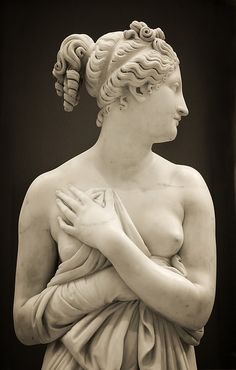 Detail - Antonio Canova | Venus Italica - Probably ca. 1822–23, variant of marble first executed 1810. Height: 69 in. (175.3 cm).