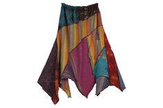 Fun Valley Hanky Hem Patchwork Skirt