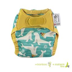 Pop-in Newborn Single Printed Nappy - Seal print