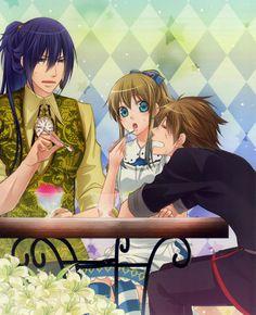 Julius, Ace, and Alice Heart no Kuni no Alice official art