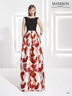 vestido largo estampado de flores