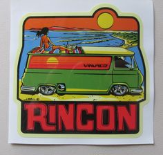 Newport Beach  California    Vintage 1960/'s Style  Travel Surfing  Sticker Decal