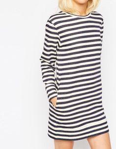 ASOS Sweat Dress In Stripe