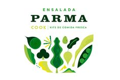"The Uruguayan fresh food brand called COOK launched its new ready to eat salads. His first two mix are ""PARMA"" and ""CAMPO"". We designed a new packaging with cool artwork with much parmesan, cherry tomatoes, arugula and lots of olive oil."