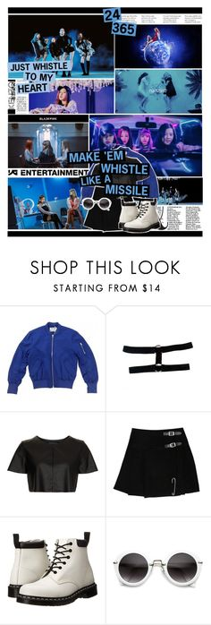 """""""BLACKPINK - WHISTLE"""" by anniiebee ❤ liked on Polyvore featuring KRISVANASSCHE, Acne Studios, Topshop, Dr. Martens and ZeroUV"""