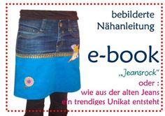 ebook und Nähanleitung Rock Jeans&Schere