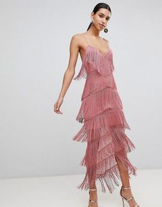 online shopping for ASOS Fringe Mesh Strappy Maxi Bodycon Dress from top store. See new offer for ASOS Fringe Mesh Strappy Maxi Bodycon Dress Evening Dresses, Prom Dresses, Fringe Fashion, Fringe Dress, Retro Dress, Modest Outfits, Summer Outfits, The Dress, Plus Size Outfits