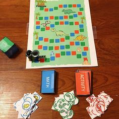 Dino Stomp Free DIY Printable Board Game Another installment to our current dinosaur theme is this free printable board game. Setup is simple and play is easy. Game designed for children ages 4-7 b…