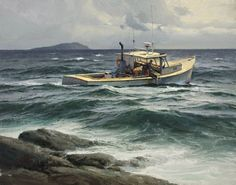 The Paintings of Donald Demers - Running Tide - - oil