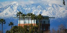 Snow capped Mount Baldy over UC Riverside - how cool is this picture?