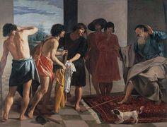 Diego de Velázquez. La túnica de José.1630. Óleo sobre lienzo. 233x250 cm. Estilo barroco. Monasterio de San Lorenzo de El Escorial