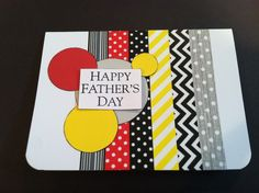 Father's Day card with #pickyourplum #washitape