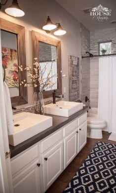 Modern Rustic Farmhouse Style Master Bathroom Ideas 28