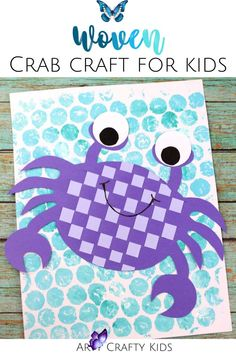 Easy Woven Paper Crab Craft for Kids Looking for easy paper weaving crafts for kids to make at home? Check out these easy paper crab crafts for kids and learn how to make a paper crab craft for kids that children will love to make this summer with our printable craft templates here! Get printables + instructions for these woven paper crafts for kids here! | Woven Crafts for Kids | Paper Weaving Projects for Kids | Summertimes Crafts for Kids | Sea and Ocean Crafts for Kids | Summer Kids… Summer Crafts For Kids, Paper Crafts For Kids, Crafts For Kids To Make, Summer Kids, Projects For Kids, Printable Crafts, Printables, Crab Crafts, Thing 1