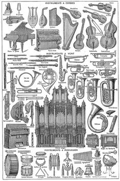 Musique (instruments et accessoires de) - Larousse universel - 1922