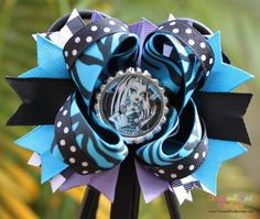 Monster High Frankie Stein Boutique Hair Bow. $9.99, via Etsy.