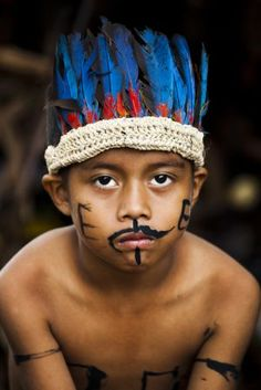 Ocaina Tribe in the Amazon.
