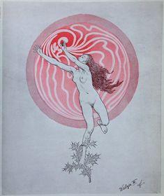 """""""Fidus"""" Illustration de l'artiste allemand Hugo Hoppener (1868-1948)"""