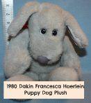 1980 Dakin Francesca Hoerlein Gray Puppy Plush