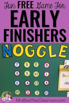 Do you struggle to keep your students busy with meaningful activities when they finish early? Check out this fun, FREE number game for early finishers that can be used with ANY grade level!