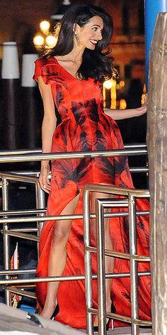 Amal in Alexander McQueen gown