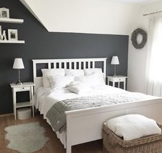 Ikea double bed Hemnes lacquer whiteSince we want to move, sell w … - Bedroom Decoration My New Room, My Room, Bedroom Furniture, Bedroom Decor, Design Bedroom, Furniture Sets, Bedroom Ideas, Wall Design, House Design