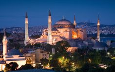 Istanbul at night, one of the world's best places to invest in property