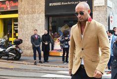 bald-fashion-men-style-milan-italy-badass-camel-jacket-650×445 | getthatswag