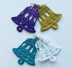 Virkattuja joulukelloja, yksityiskohtainen video-ohje. Crochet bells for Christmastree, step by step video tutorial