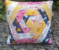 Quilt As You Go (QAYG) Rain or Shine Cushion – Fabric PunkIt's super easy and quick to make, and in my usual lazy quilter style, there's not much fiddling about with cutting and piecing. If you are not confident at quilting then this is perfect as you QAYG and it's just straight line quilting. I used the width of the sewing machine foot as a spacing guide and so didn't need to mark any lines.
