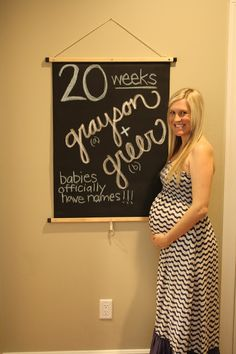 Twin pregnancy tracker : 20 weeks   The Nest The Laws Built #chalkboard #twins #pregnancy #20weeks