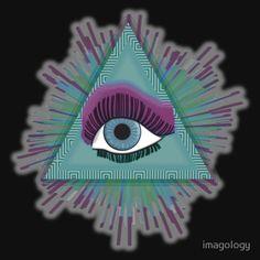 'Mind's Eye' T-Shirt by imagology Mindfulness, Christmas Ornaments, Eyes, Cool Stuff, Holiday Decor, Shirt, Home Decor, Decoration Home, Dress Shirt