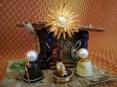 Great ways to make authentic Italian coffee and understand the Italian culture of espresso cappuccino and more! Nativity Stable, Cappuccino Machine, Church Crafts, Christmas Nativity, Candle Holders, Projects To Try, Creations, Christmas Decorations, Xmas