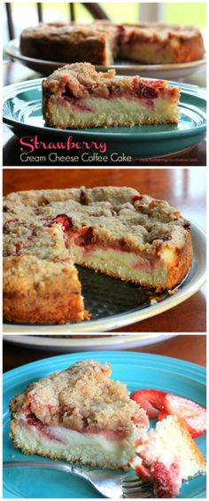 Strawberry Cream Cheese Coffee Cake – The Baking ChocolaTess... This yummy desert is made with Cinnamon Streusel for a topping!