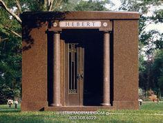 Hebert Family Mausoleums by West Memorials 2017 Design, Design Development, Beautiful Birds, Cemetery, Granite, This Is Us, Construction, Memories, Building