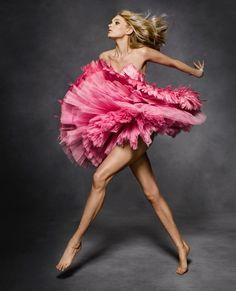 Elsa Hosk | Feather Fashion Editorial | Harper's Bazaar
