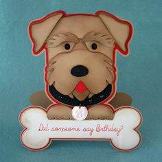 Silhouette UK: Dog Birthday Card using Faux Leather Paper